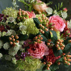 Abundant Autumn arrangement with berries