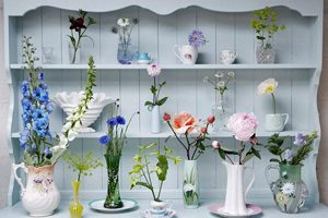 Flowers on Welsh dresser
