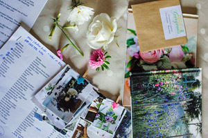 Course notes and photobooks for inspiration