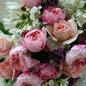Peony bridal bouquet