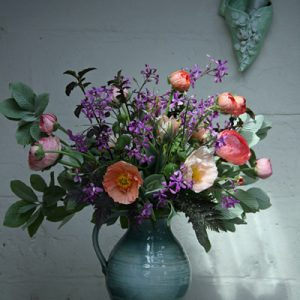 Spring arrangement in flower studio