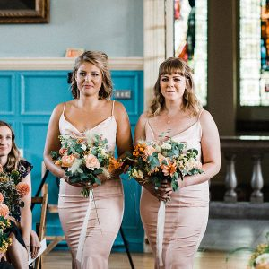 Bridesmaids flowers by G&G
